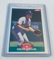 B5,837 - 1989 Score Rookie/Traded #105T Omar Vizquel Rookie Mariners Indians