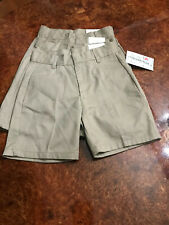 "Lot 4 Girl'S School Uniform Shorts Size 4 22"" W X 4 1/2""I Khaki"