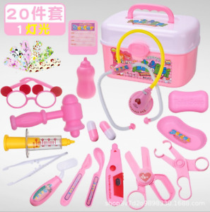 20Pc Kids Doctor Playset Girls Nurse Kit Pretend Play Toys Toddler Play Set Gift