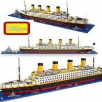 1860pcs Titanic Cruise Ship Building Bricks Blocks Sets 3D Legoings Boat Kid Toy