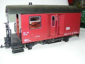 LG1, LGB, Spur G, Gepäckwagen 905-155  der HSB, Figur & Innenlicht top,