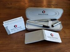SHEAFFER ROLLERBALL PEN chrome and brushed silver USA, Realtors Gift