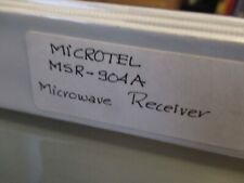 VINTAGE MANUAL MICROTEL MSR-904A MICROWAVE RECEIVER OPERATIONAL AS PICTURED &BLI