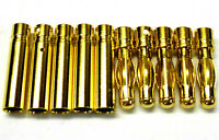 C0403x5 RC Connector 4mm 4.0mm Gold Plated Male and Female Bullet Banana x 5 Set