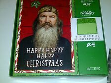 New Christmas Cards Duck Dynasty Happy Happy Happy Christmas 18 Card Lot # 2