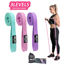 MKAS Fitness Long Resistance Bands Workout Fabric Set Exercise Elastic Booty Ban