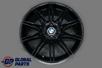 "BMW E90 E91 E92 2 Black Front Wheel Alloy Rim 19"" M Double Spoke 225 8J ET:37"