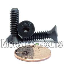 "#10-24 x 3/4"" - Qty 10 - FLAT HEAD Socket Cap Screws - Alloy Steel Black Oxide"