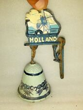 Vintage Old Hand Made Cast Solid Iron Holland Name Beautiful Home Decor Bell