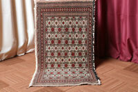 2x4 Vintage Oriental Geometric Hand Knotted Traditional Wool Small Area Rug