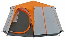 COLEMAN CORTES OCTAGON 8 MAN TENT ORANGE camping festival family glamping luxury