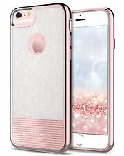 For iPhone 6S 6 Case 2in1 Glitter Clear Shockproof Hybrid Cover Pink Girl Women