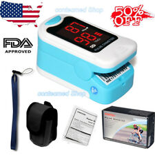 Free Pouch&Lanyard Finger Pulse Oximeter Blood Oxygen SPO2 PR CMS50M Newest USA