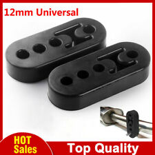 2X Universal Black Heavy Duty Rubber Exhaust Mount Brackets Hangers 12mm Hole FF