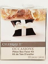 Celebrate It Occasions 100pcs Pillow Boxes Black