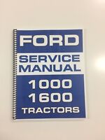 Ford 1600 Tractor Service Manual Repair Manual Technical Manual Shop Manual