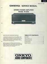 Onkyo Service Manual Stereo Power Amplifier Modell M-5550