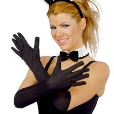 Guirca 16497 Guanti lunghi 45cm neri da donna Carnevale Halloween Gloves Black