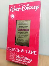 Walt Disney Preview Tape For Promotional Use Only The Jungle Book Rare!