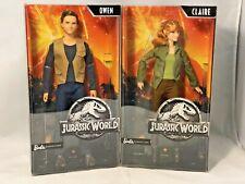 2017 Mattel Barbie Signature Jurassic World Owen Fjh57 & Claire Fjh58 Dolls