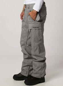 Burton Covert Mens Snowboard Ski Pants Winter Snow Trousers Salopettes 10K R£150
