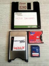 PCMCIA adapter + SD CF Type I SDHC + Drivers + 16GB SD CARD - Amiga 600 1200