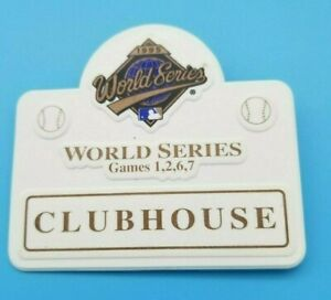 WORLD SERIES CLUBHOUSE TICKET BADGE - 1995 - GAME 1 2 6 - BRAVES INDIANS