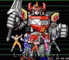 Mighty Morphin Power Rangers -SNES Super Nintendo Game