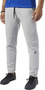 Reebok Workout Ready Fleece Mens Training Pants - Grey