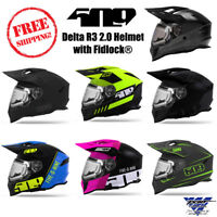 509 Delta R3 2.0 DOT ECE Certified Electric Snowmobile Helmet with Fidlock Strap
