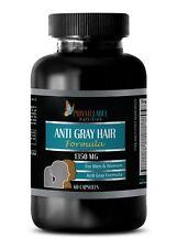 Reverses Gray Hair - ANTI GRAY HAIR 1350mg - Stop Grey Hair Pill - 1 Bottle