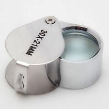 30 Fach Vergrößerungsglas Juwelier Lupe Magnifier Schmuck Einschlaglupe 9902