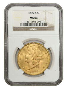 1895 $20 NGC MS63 - Liberty Double Eagle - Gold Coin