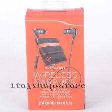 Plantronics BackBeat Go 2 Wireless Earbud Headphones with Charging Case (Black)