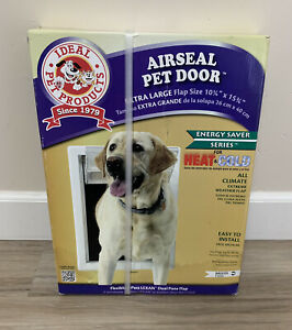 Ideal Pet Products Air Seal Door With Telescoping Frame XL - Creame