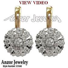 Old Russian Style Malinka Diamond Earrings 1.80 CTW G-SI1 14K Gold 585