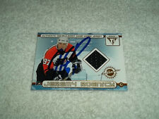 Jeremy Roenick Hand Signed 2002 Pacific Double Sided Jersey Card Tom Barrasso