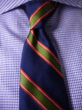 BROOKS BROTHERS Silk Tie Navy Blue Stripe ~  NWOT - New