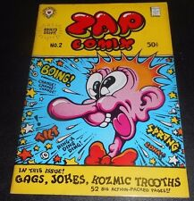 ZAP COMIX #2 R. CRUMB Victor Moscoso RICK GRIFFIN S. Clay Wilson APEX 2nd P 1968
