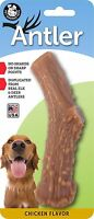 Pet Qwerks Chicken Infused Nylon Antler Dog Chew Toy -Aggressive Chewers (LARGE)