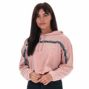 Women's adidas Originals Relaxed Fit Cropped Hoodie Sweatshirt in Pink