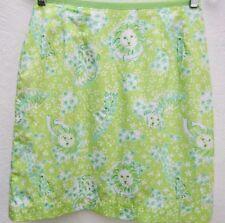 LILLY PULITZER Womens ZOOBILEE Lion/Tiger/Giraffe Green/Blue Cotton Skirt Sz.2