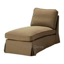 NEW IKEA EKTORP Free Standing Chaise Lounge Cover Slipcover - Idemo Light Brown