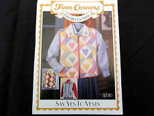 Say Yes To Vest Four Corners Creative Clothing Sewing Pattern #5770 Patchwork