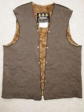 "BARBOUR Pile Lining For Wax Jacket Press Studs C38""/91cm Brown Fleece/Fur A297"