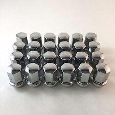 "Set 24 1.78"" Tall Lug Nuts Chrome 14mm x 1.5 22mm For Chevy/GMC Trucks W60236"
