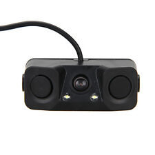 3 IN 1 Video Parking Sensor Car Reverse Backup Rear View Camera with 2 Radar Det