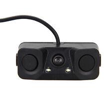 3 IN 1 Video Parking Sensor Car Reverse Backup Rear View Camera with 2 Radar Det