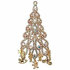 Kirks Folly NWOT Night Before Christmas Couture Tree Pin Brooch Limited Edition