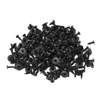 100 Pcs Car Fender Push in Type Plastic Rivets Fastener Black 15 x 13 x 6mm FP